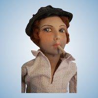 Unusual Male Smoker Boudoir Doll