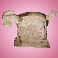 Spark Plug Glass Horse Cartoon Candy Container