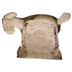 Spark Plug Glass Horse Cartoon Candy Container