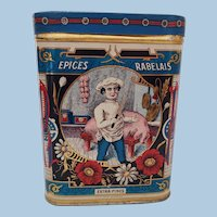 Vintage French Spice Tin Epices Rabelais