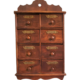 Nice Antique Wall Mount Spice Cabinet