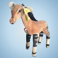"6"" Steiff Okapi Stuffed Animal"
