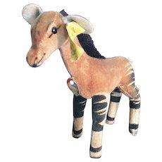 """6"""" Steiff Okapi Stuffed Animal"""