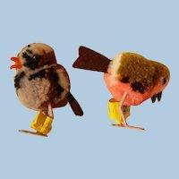 Vintage Steiff Pompom Birds or Chicks