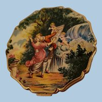Vintage Stratton Handpainted Compact