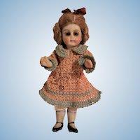 Antique Swivel Neck Mignonette Dollhouse Bisque Doll