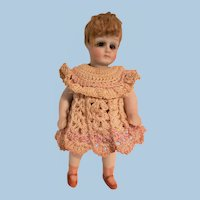 Spunky Swivel Neck All Bisque Miniature Doll
