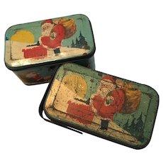 Santa Claus Tindeco Candy Tins