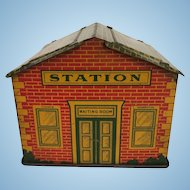 Vintage Toy Train Transformer Station House