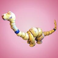Very Old Twistum Wooden Poseable Dinosaur Toy