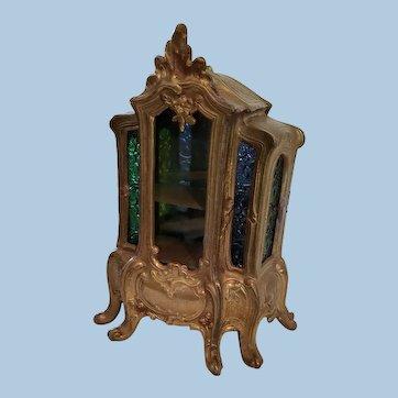 Old Vitrine Doll Display Cabinet