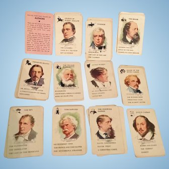 Vintage Authors Card Game