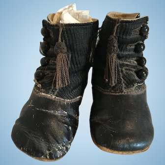 Button Up Antique Baby Shoes