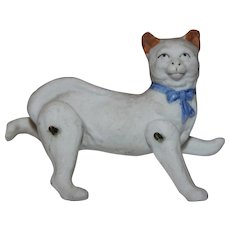 Jointed Miniature Bisque Cat