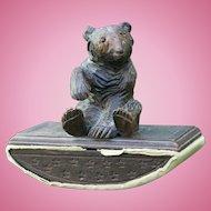 Black Forest Wooden Carved Bear Ink Blotter