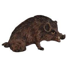Miniature Vienna Bronze Wild Boar Pig