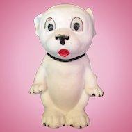 German Bisque Bonzo Dog Figurine