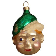 Vintage Boy Face Christmas Tree ornament