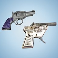 Pair ov Vintage Toy Cap Guns