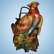 German Parrot Shaped Christmas Tree Candle Clip