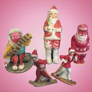 Group of Christmas Miniature Figures