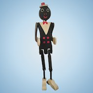 Folk Art Coon Jigger Black American Toy