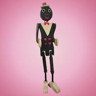 Folk Art Coon Jigger Black American Toy