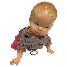 Vintage Windup Crawling Baby Doll
