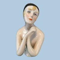 Large Art Deco Half Doll Pincushion