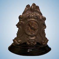 German Miniature Tin Windup Dollhouse Clock