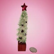 Tiny Vintage Dollhouse Christmas Tree