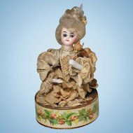 Bisque Head Doll French Candy Container