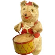 Vintage Drummer Bear Windup Toy