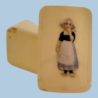 Miniature Doll Size Treasure Box with Dutch Girl