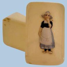 Miniature Doll Size Treasure Box with Dutch Girl