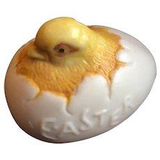 Porcelain Easter Egg Hatching Chick