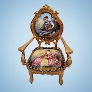 Dollhouse Size Vienna Enamel Chair