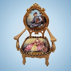 Dollhouse Size Vienna Enamel Chair