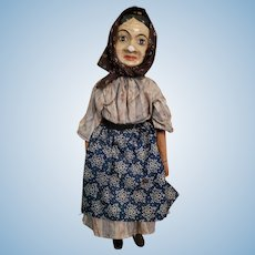 Very Old German Lady Marionette