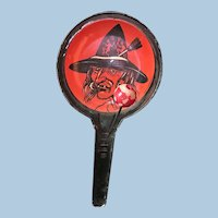 Halloween Tin Litho Witch Noisemaker Clacker