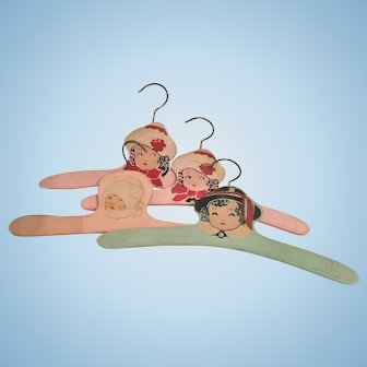 Vintage Wooden Children's Clothes Hangers