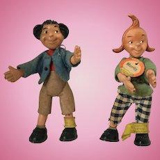Rare Max & Moritz Steiff Dolls