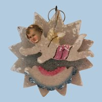 Mica Christmas Tree Ornament with Angel