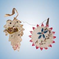 Vintage German Mica Christmas Tree Ornaments