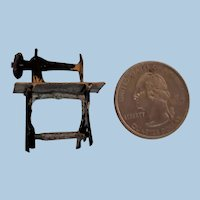 MIniature Metal Sewing Machine
