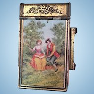 Vintage Miniature Metal Tablet with Flip Top