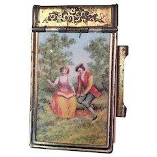 Vintage Miniature Metal Tablet with Flip Top