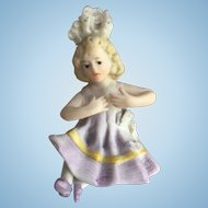 Miniature Piano Baby Bathing Beauty Figurine