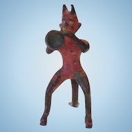 Miniature Bronze Devil Figurine