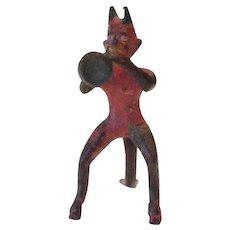 Miniature Bronze Devil Figurine